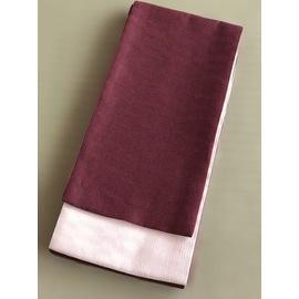 竺仙麻綿市松半巾帯-あずき色 (NO.1910)
