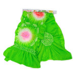 お子様女の子用兵児帯 浅緑にピンク・赤絞り(NO.1250)