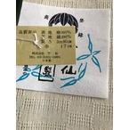 竺仙麻綿市松半巾帯-水色 (NO.1908)
