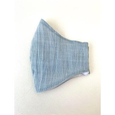 涼しい麻マスク【水色Mサイズ】スタイリッシュ(NO.8029)